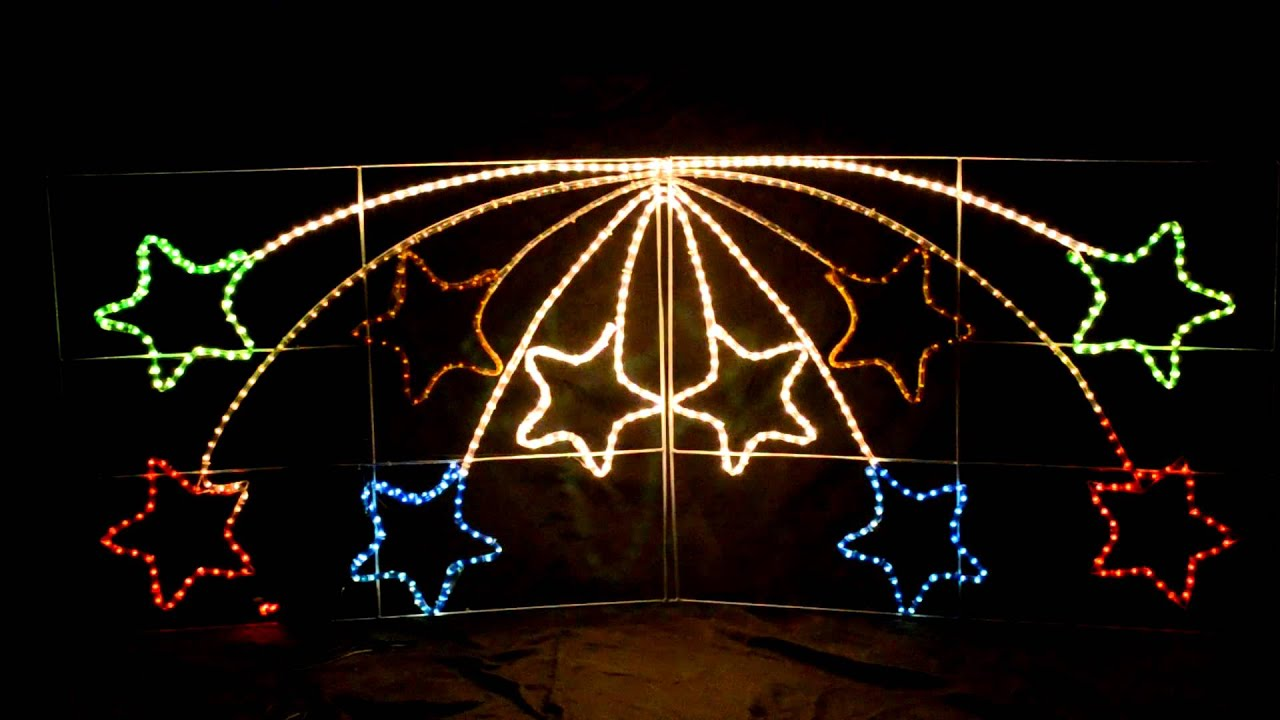 giant shooting star christmas outdoor light youtube - Outdoor Christmas Star Decoration