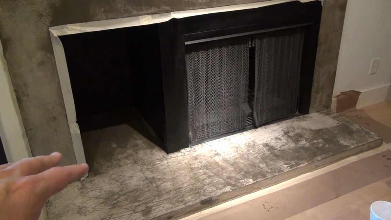 how to epoxy seal concrete fireplace surround 1 youtube