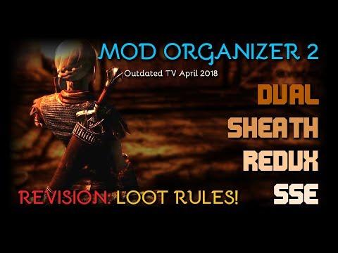 Dual Sheath Redux for Skyrim SE - Mod Organizer 2 - REVISION 1