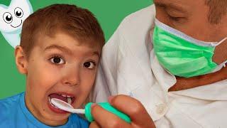 Макс и папа -  история о том как важно лечить зубы