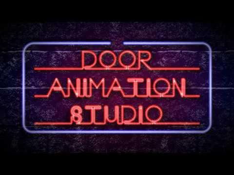 Door Animation Studio neon lights effect