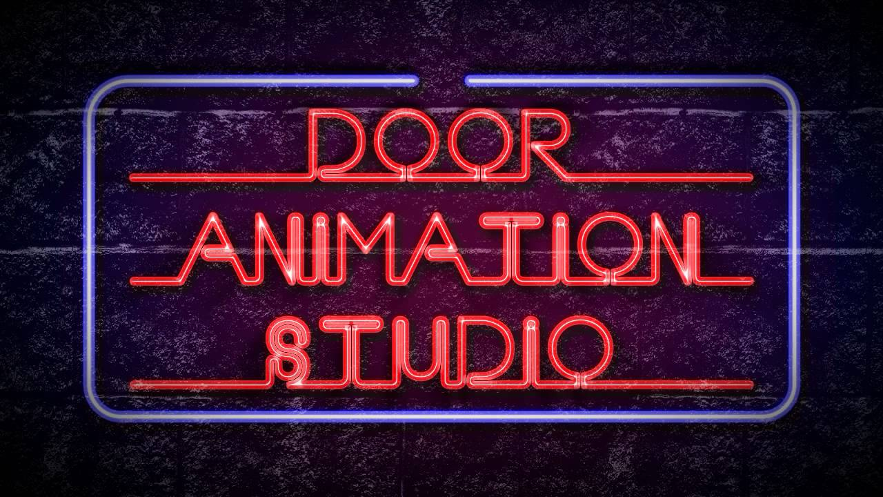 Door Animation Studio neon lights effect