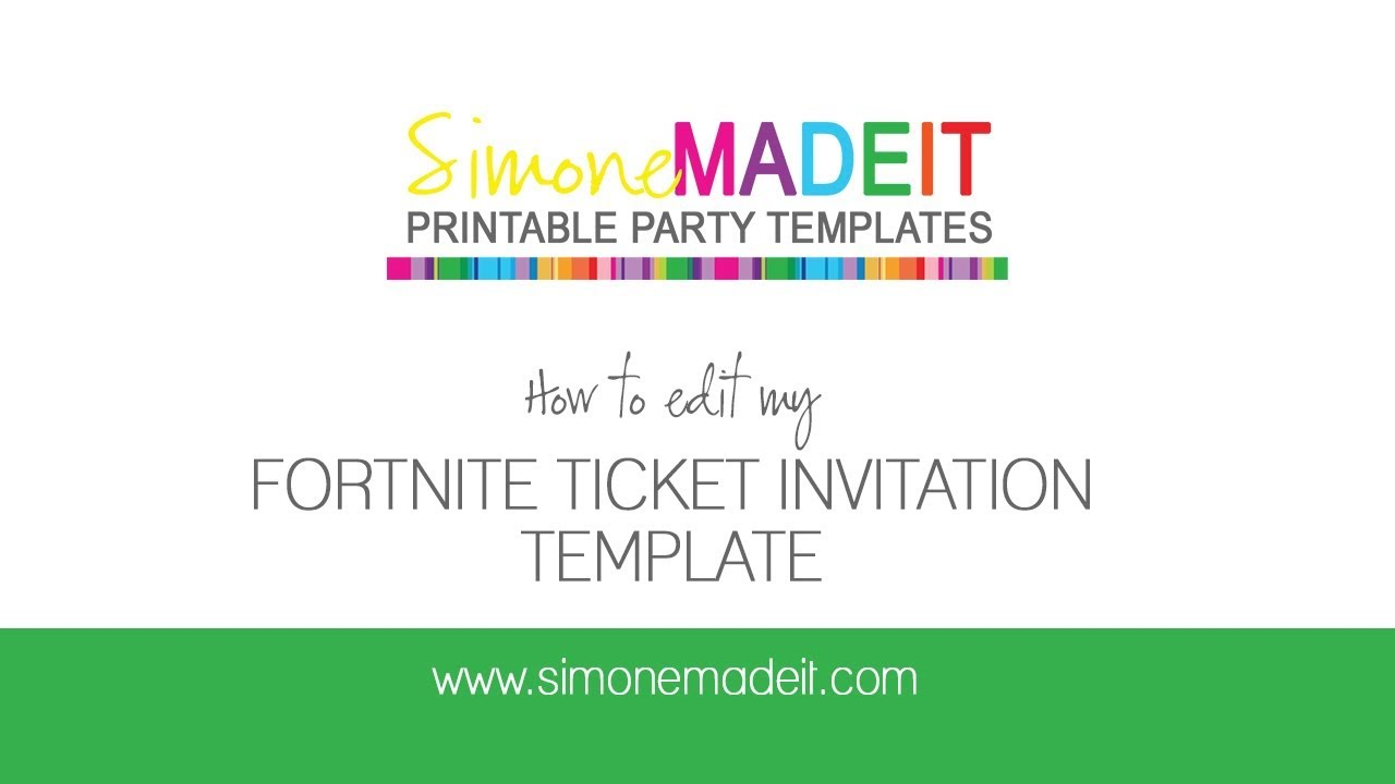 image regarding Fortnite Logo Printable identify Fortnite Birthday Celebration Invitation - Editable Printable Template
