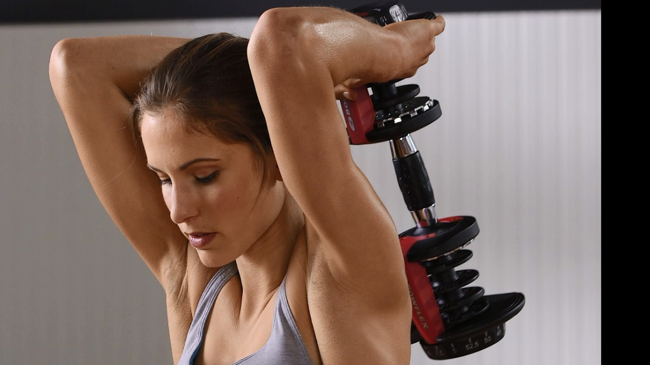 Try Bowflex Max >> Simple Triceps Workout Exercises for Beginners - YouTube