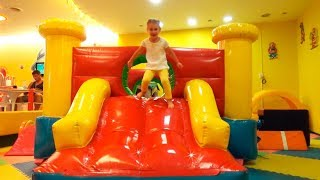 Bad kid play indoor playground Funny kids video Bad baby