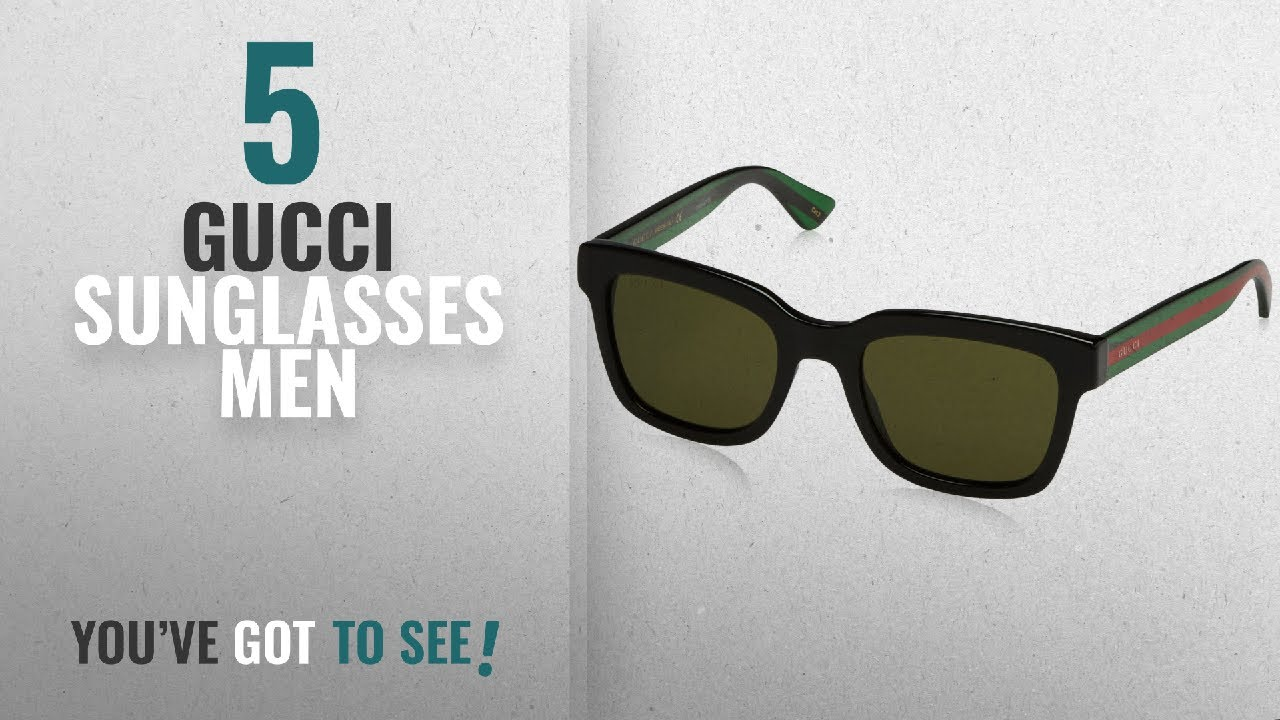 822d2a4f47b Top 10 Gucci Sunglasses Men  2018   Gucci Sunglasses GG0001S BLACK ...