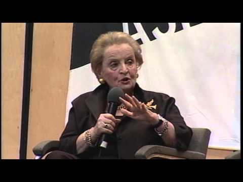 Afternoon of Conversation with Madeleine Albright and Hernando De Soto