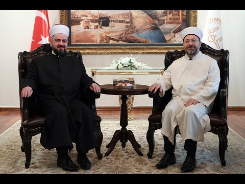 Diyanet İşleri Başkanı Erbaş, Sırbistan İslam Birliği Reisul Uleması Nasufoviç'i kabul etti.