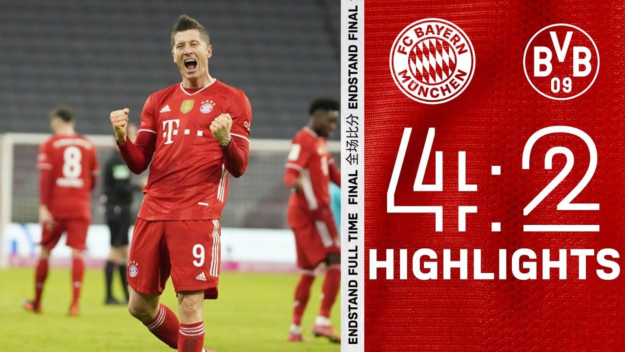 Insane Comeback With 3 Lewandowski Goals Highlights Fc Bayern Vs Borussia Dortmund 4 2 Youtube