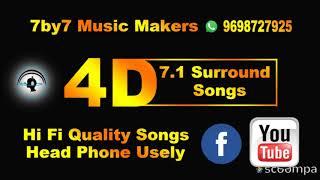 பொட்டு எடுத்து வச்சிவிடவா [Pottedutthu] 4D effect 7.1 Surround Songs Head Phone Usely