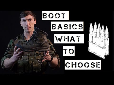 """Basics of """"tactical"""" boot selection and wear."""