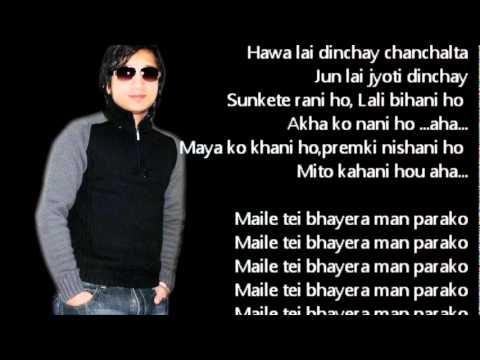 Mero Kalpana Karaoke with Lyrics