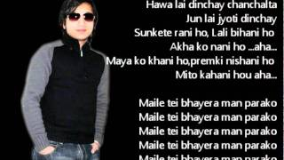 Mero Kalpana Karaoke with Lyrics