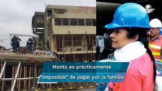 Por reparación de daño, Mónica García Villegas pagará un millón 760 mil pesos por cada víctima que perdió la vida en su colegio tras el sismo de 2017. Falta que el juez le dicte los años en prisión