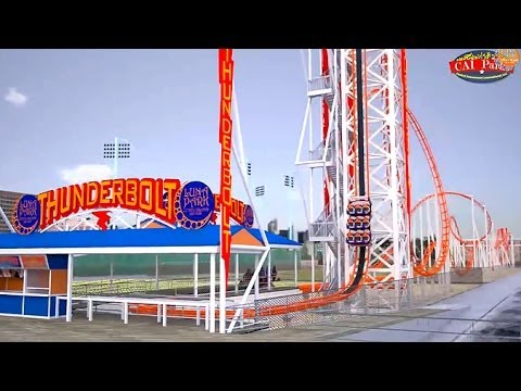 New Thunderbolt Roller Coaster At Luna Park In Coney Island!!!