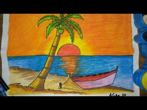 Easy landscape drawing for children#kids#children