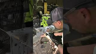 Removing factory rivets fŗom frame
