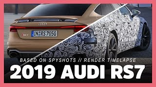 this is the 2019 Audi RS7 based on spy images (photoshop render timelapse preview)