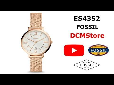 ES4352 Fossil Jacqueline Three Hand Rose Gold Tone ....... DCMStore