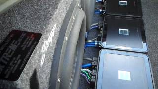 2 Boston SPG 555 13 inch subwoofers | Extreme Bass 5 | 3000 Watt Car Audio System enrages Taco Bell