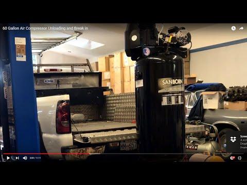 60-gallon-air-compressor-unloading-and-break-in