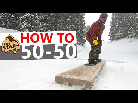 HOW TO 50-50 - Beginner Snowboarding Trick