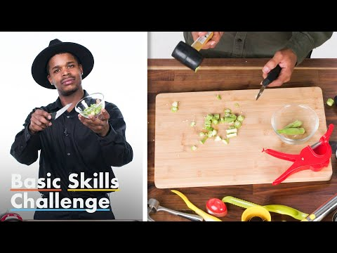 50 People Try To Slice Okra | Basic Skills Challenge | Epicurious