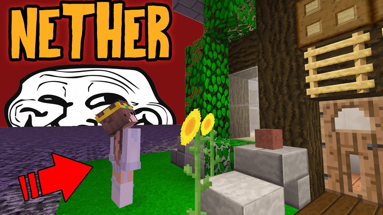 MOVING GIRLS HOUSE TO THE NETHER! [FREAKS OUT!] (Minecraft Trolling)
