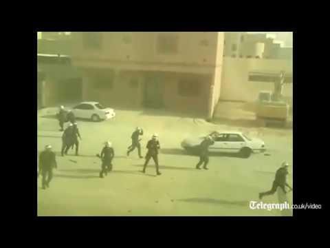 Video  Bahrain police shoot man at close range