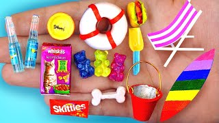 20 DIY MINIATURE FOOD AND DRINKS REALISTIC HACKS AND CRAFTS !!!