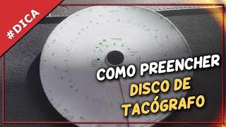 Como preencher um disco de tacógrafo
