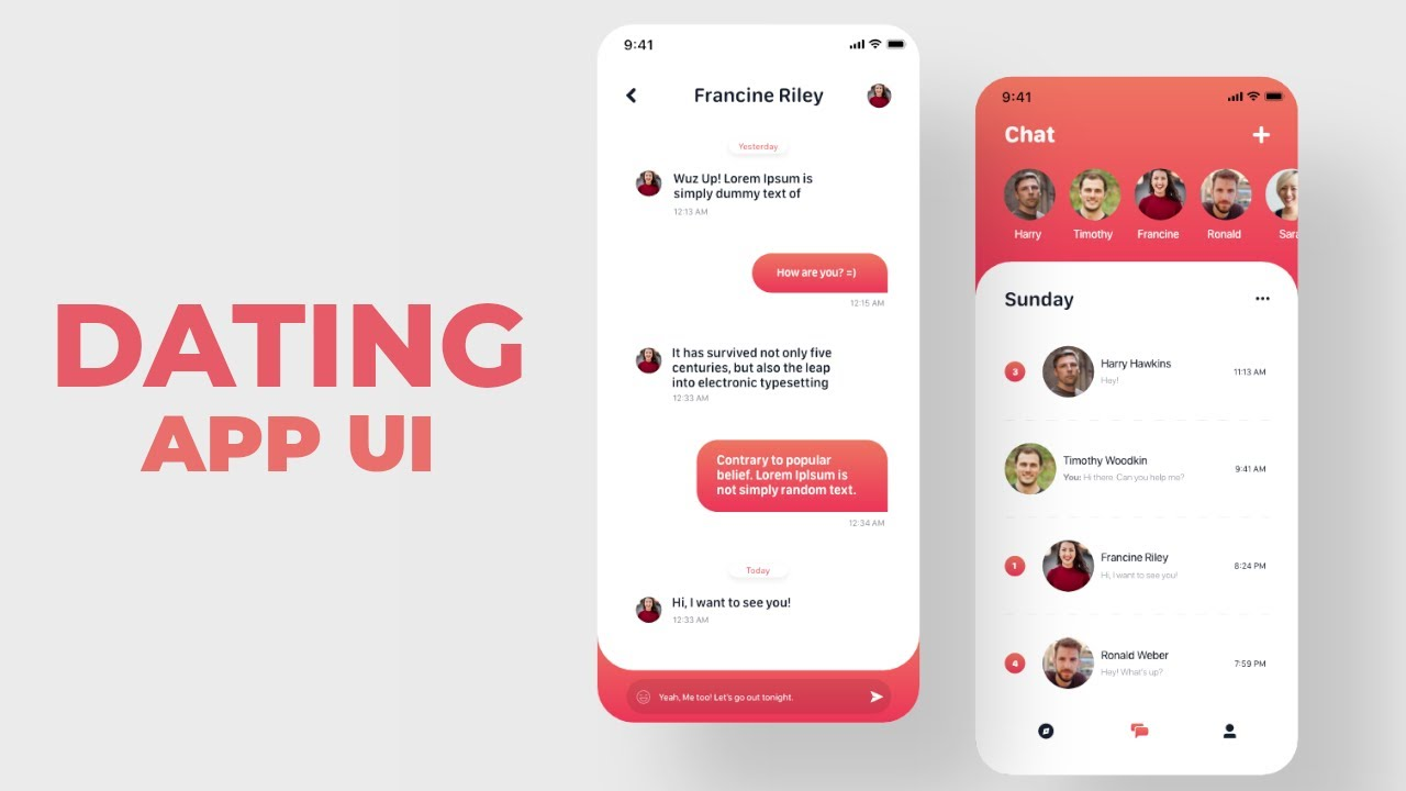🔴 Dating App UI - With Github Users API - React Native   Speed Code