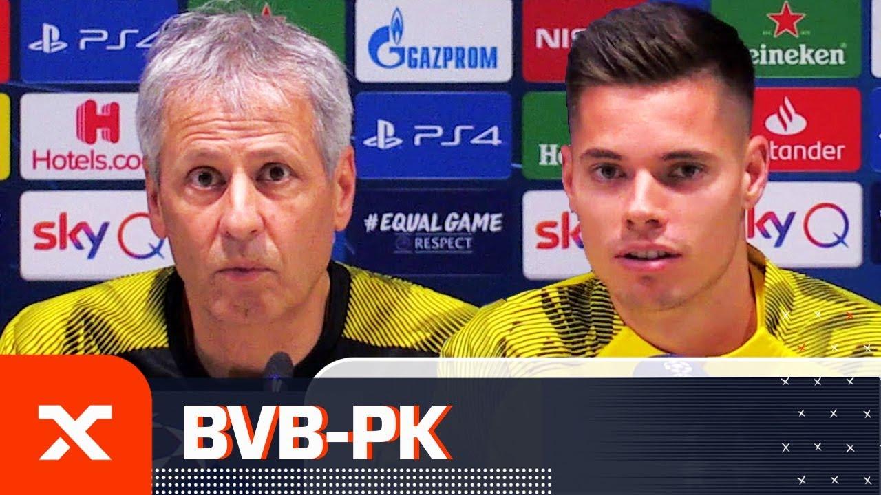 Lucien Favre und Julian Weigl über Reus-Ausfall und Sancho-Comeback | Borussia Dortmund | SPOX