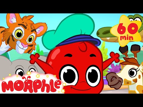 Thumbnail: Morphle And The Zoo Animals! (+1 hour funny Morphle kids videos compilation)