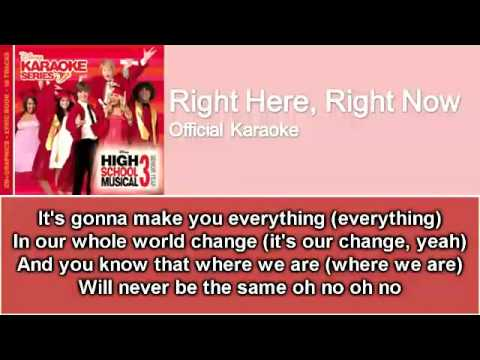 02 Right Here, Right Now (Official Karaoke / Instrumental) with Lyrics on Screen