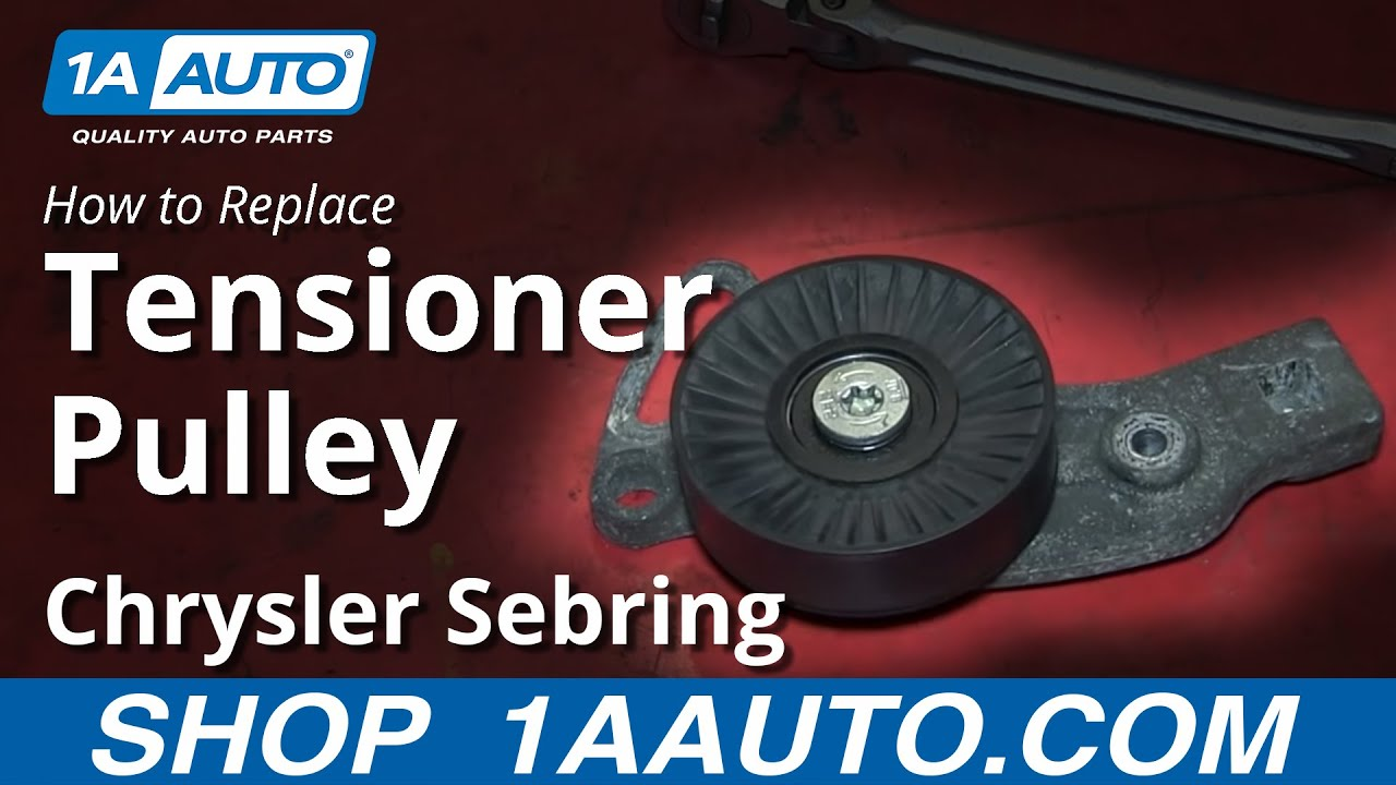 hight resolution of how to install replace engine belt idler pulley 2 7l 2001 06 chrysler sebring