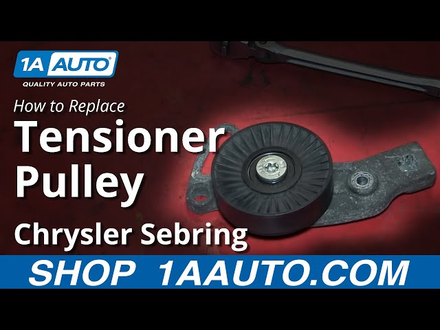 how to replace serpentine belt tensioner pulley 01-06 chrysler sebring | 1a  auto
