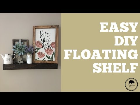 Easy DIY Floating Shelf