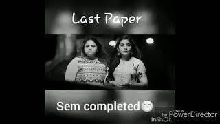 Last paper whatsapp status