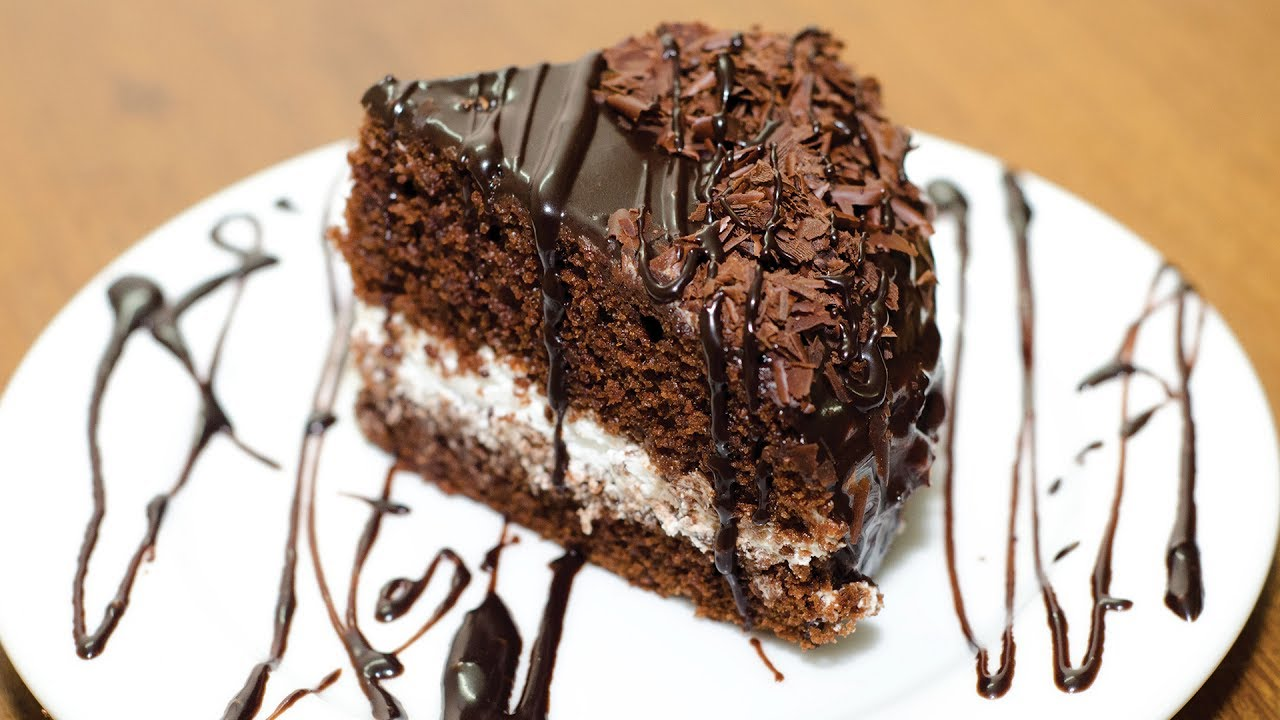 How to make homemade eggless chocolate cake without oven
