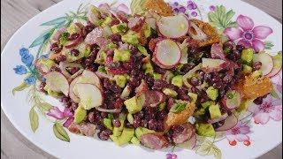 Юлия Высоцкая — Салат из фасоли, сладкого картофеля и авокадо