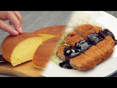 Rice Cooker Cheesecake & Tonkatsu [Japanese Food]