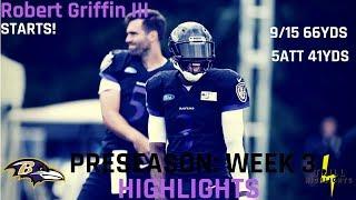 Robert Griffin III Week 3 Preseason Highlights | Speed 08.25.2018