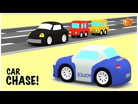 CAR CHASE #4- Cartoon Cars Compilation - Cartoons for kids - Videos for kids - Kids Cartoons