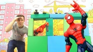 Мастерская Фёдора - Строим с Человеком Пауком новую базу!