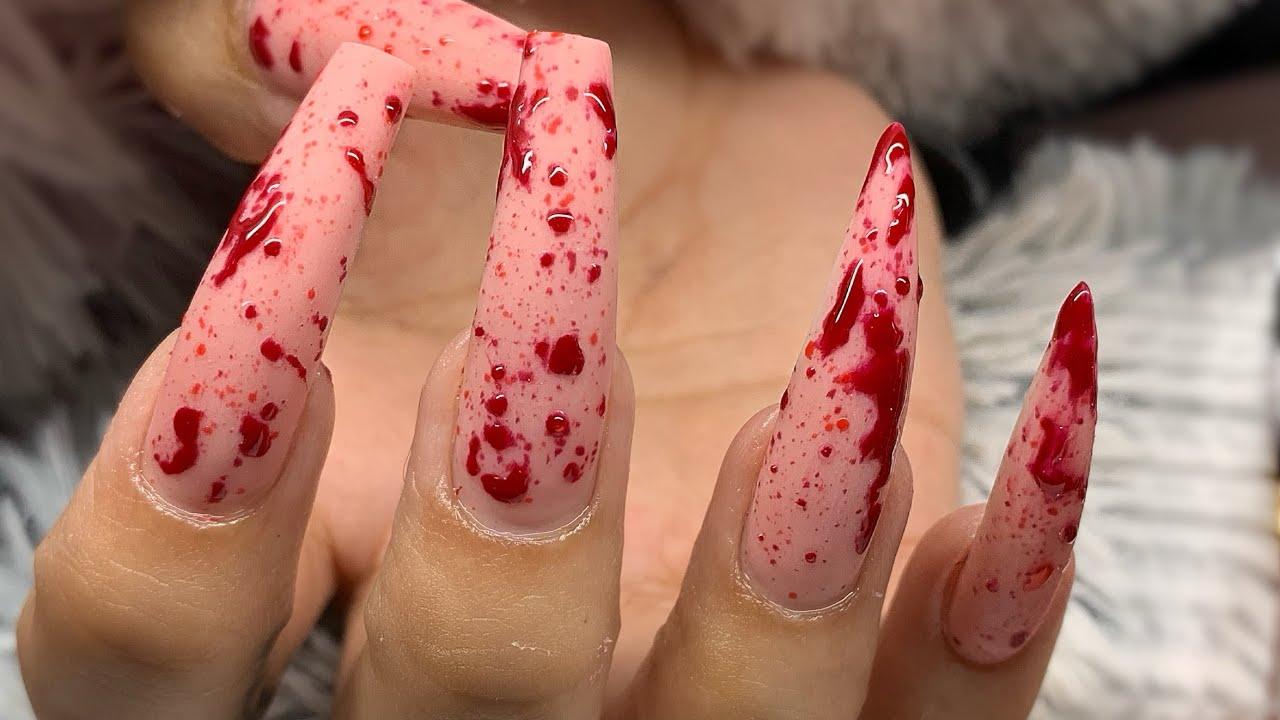 My Client Left Her Appt Bleeding 💉 Easy Blood Splatter ...