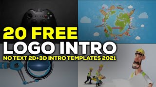 Top 20 No Text 3D+2D Intro Templates 2021 Free Download HD
