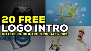 Top 20 No Text 3D+2D Intro Templates 2021 Free Download HD