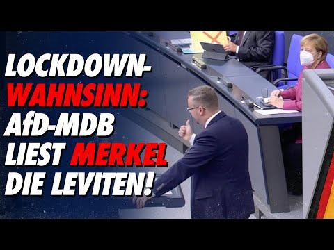 Sebastian Münzenmaier liest Merkel die Leviten wegen ihrer fatalen Corona-Lockdown-Politik! - AfD