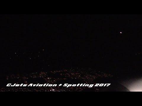 WestJet Boeing 737 6CT Onboard Night Landing at Calgary Airport